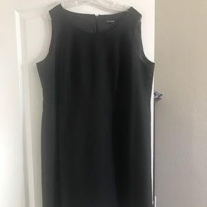 Le suit black sheath dress 18W